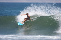 Layne Beachley Competing at Scorps Carve | © Layne Beachley