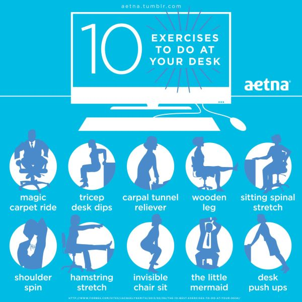 10 Exercises to Do at Your Desk
